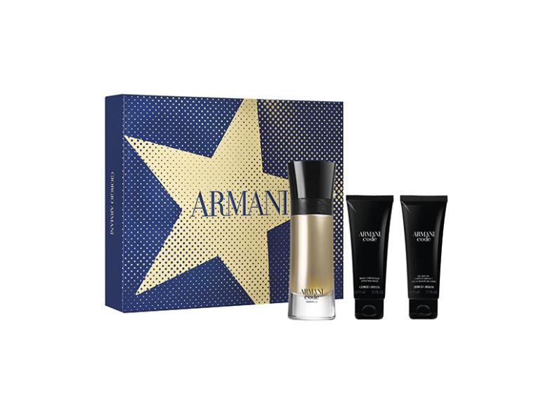 Мужской набор Armani Code Homme: туалетная вода, парфюмированныйгель для душа и бальзам после бритья, Giorgio Armani