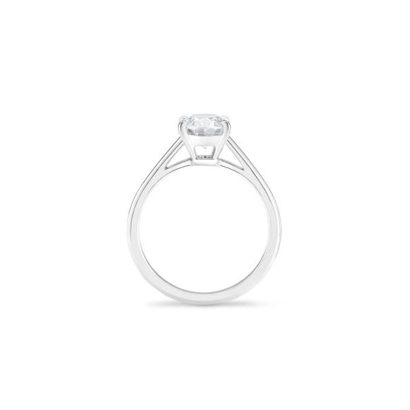 Кольцо DB Classic, бриллиант овальной огранки весом 1,5 карата