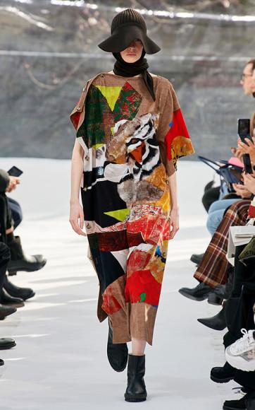 Работа Жулио Помара в женской коллекции Kenzo, осень-зима 2020/21