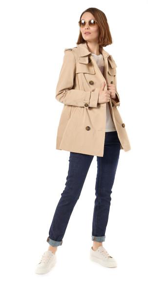 Пальто Esprit, джинсы с подворотами, Esprit Casual