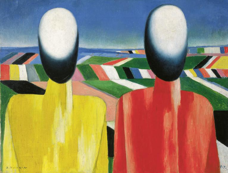 Казимир Малевич.«Два крестьянина на фоне полей», 1930