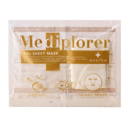Оживляющая маска на основе углекислого газа CO2 Sheet Mask, Mediplorer