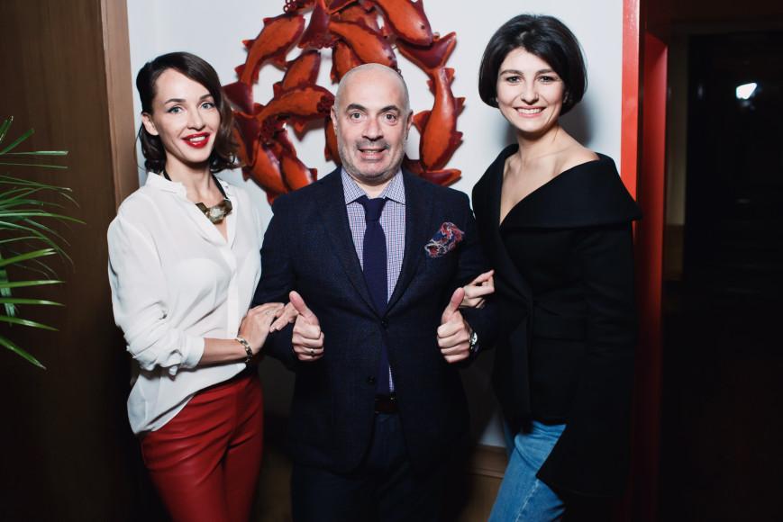 Евгения Грушевская, Михаил Грушевский и Оля Карпова