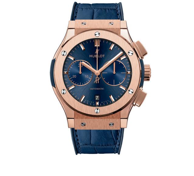 Часы Blue Chronograph Gold, HUBLOT