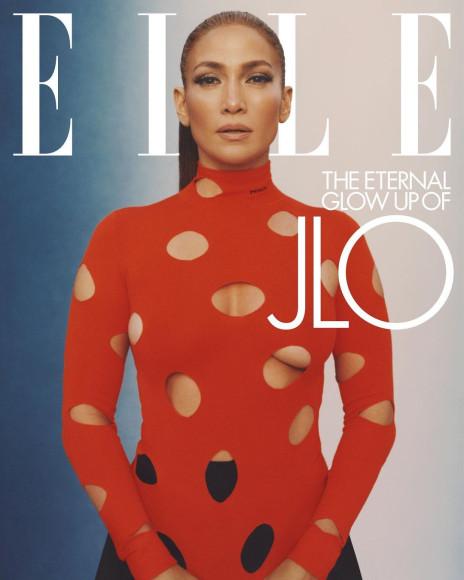 Дженнифер Лопесна обложке американского Elle, февраль 2021