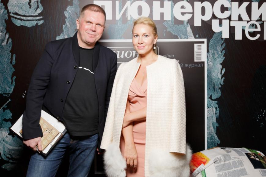 Главный редактор журнала Русский Пионер Андрей Колесников и pr-трендер Екатерина Одинцова