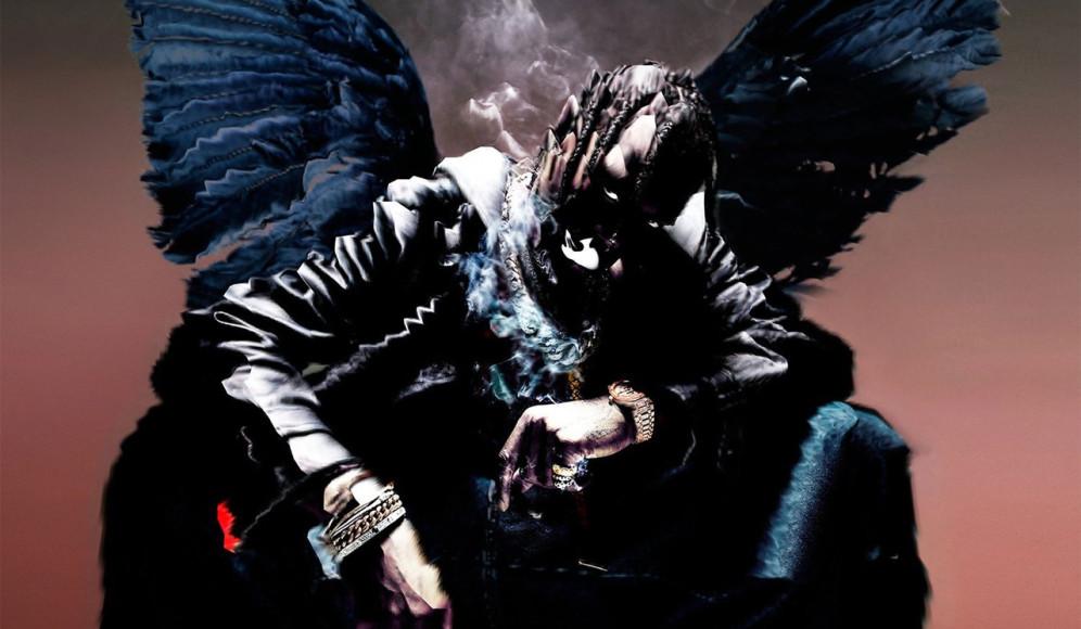 Обложка альбомаТрэвиса Скотта Birds in the Trap Sing McKnight, оформленная в Glitché