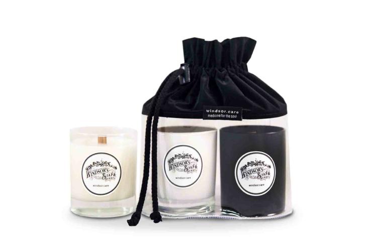 Набор из трех свечей Windsor's Soap, 7590 руб. (windsor.care)