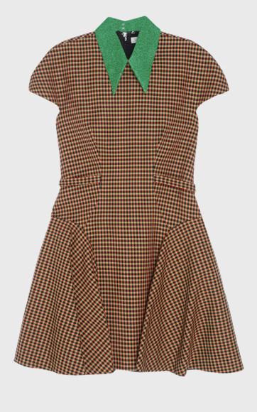 Платье, Delpozo.Модное прочтение скромного клетчатого платья, в котором можно пойти и в офис, и на открытие выставки