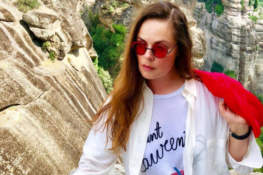 Екатерина Андреева в футболке Saint Laurent