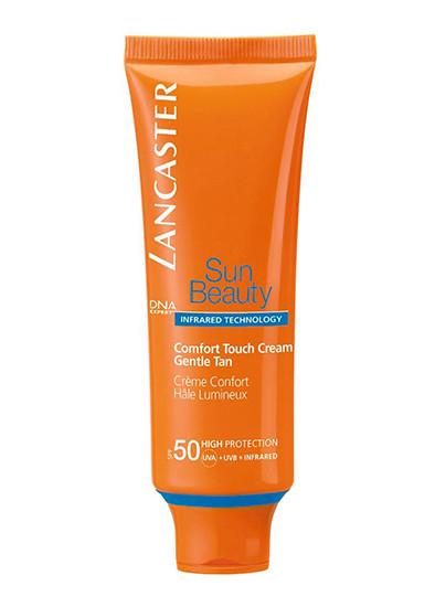 Солнцезащитный крем, защищающий кожу от инфракрасного излучения Gentle Tan Comfort Touch Creme SPF 50, Lancaster
