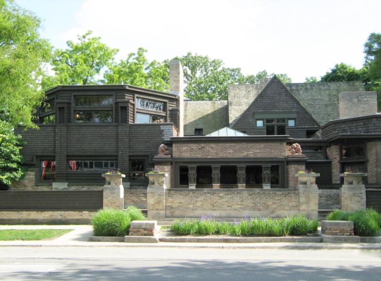 Собственный дом Райта в Оак-Парке, Чикаго. 1898