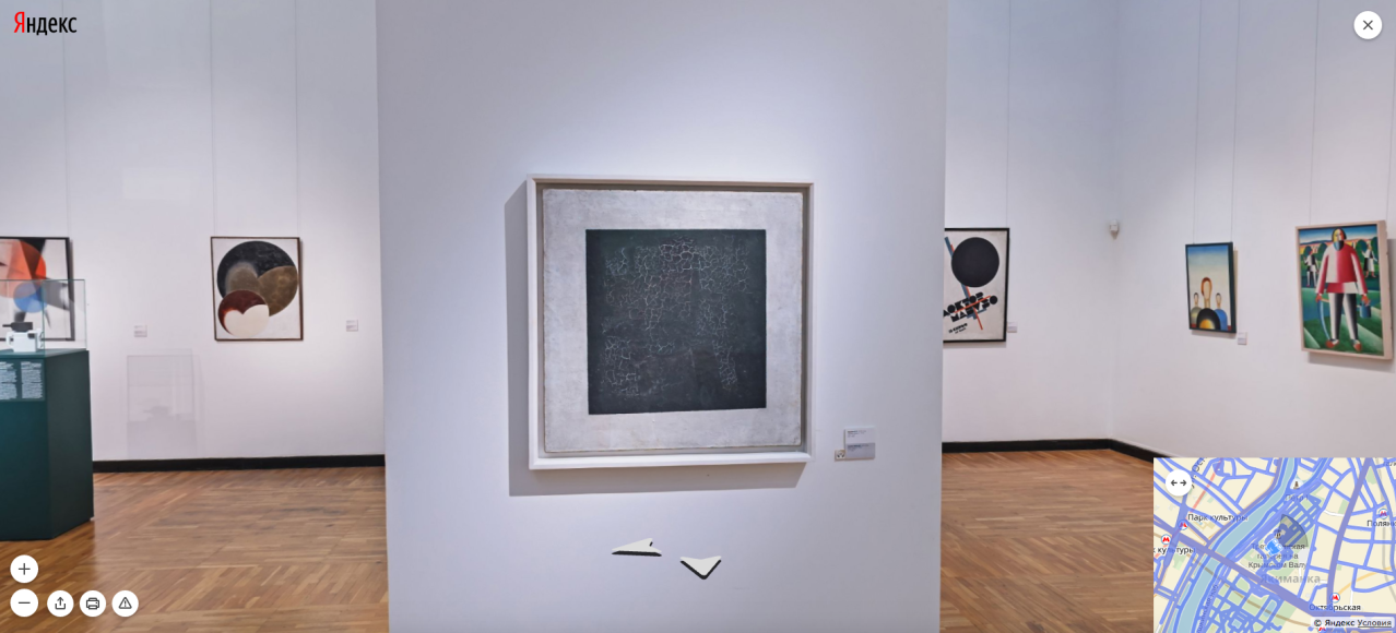 Третьяковская галерея. Зал К. Малевича