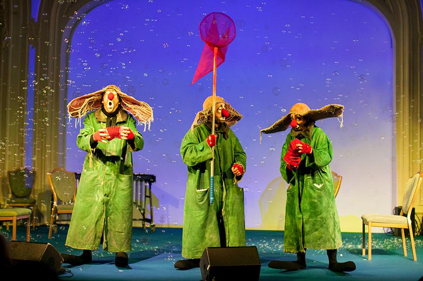 Клоуны из «Снежного шоу» Славы Полунина