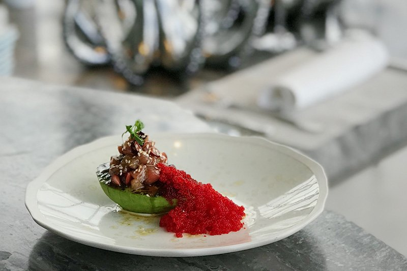 Японский тартар из брюшка тунца, «Сахалин»