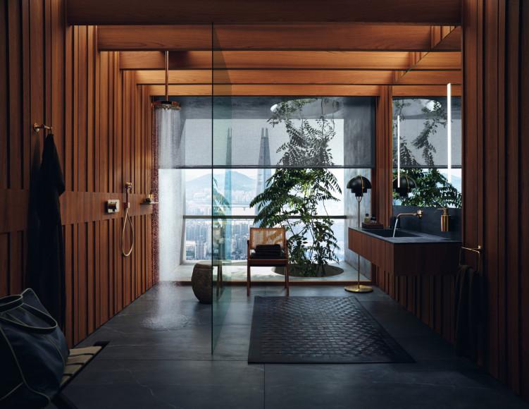 Ванная комната «Сеул», проект AXOR Compact Luxury, дизайн Barber Osgerby