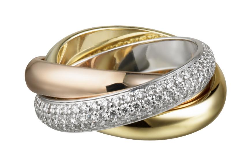 Кольцо Trinity с бриллиантами, 1999 год