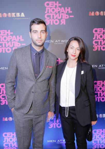 Иван Ургант, телеведущий, с супругой