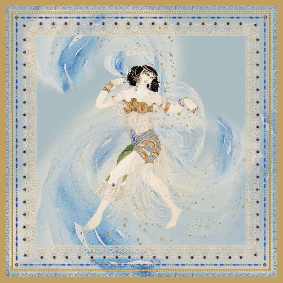 Платок по эскизу костюма Леона Бакста к драме Оскара Уайльда«Саломея»