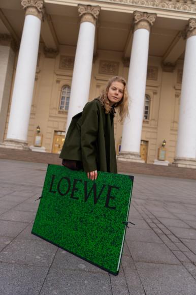 Съемка ЦУМа, посвященная проекту Loewe Show-on-the-Wall