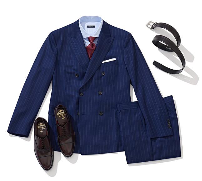 Костюм Atelier Portofino, галстук Italo Ferretti, рубашка Marol, ремень и обувь Barrett