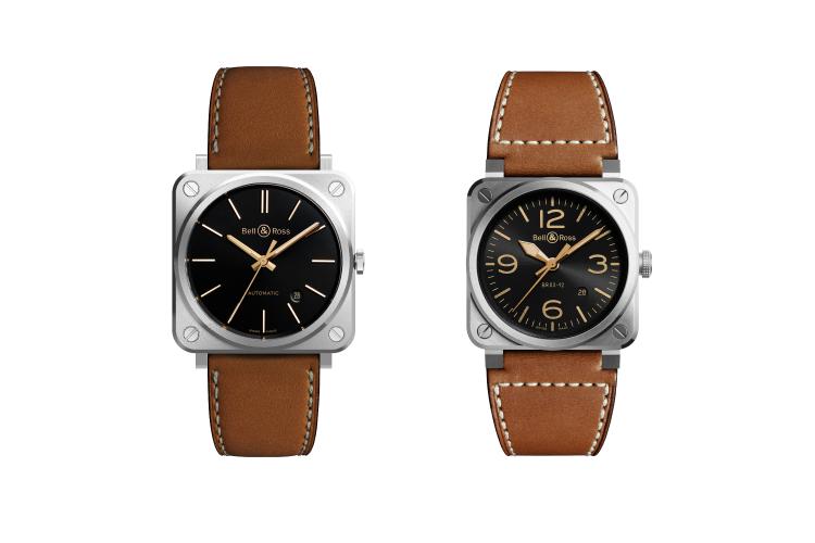 Часы BRS Golden Heritage 39 mm и BR 03-92 Golden Heritage, Bell & Ross