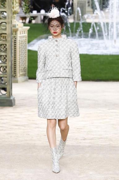 На показе Chanel, 2019 год