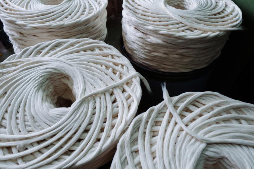Пряжа из регенирированного волокна