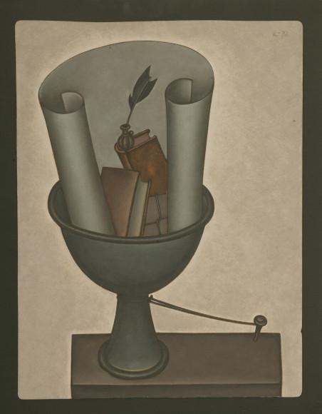 Дмитрий Краснопевцев. Привязанная ваза. Холст/масло, 1972 г.