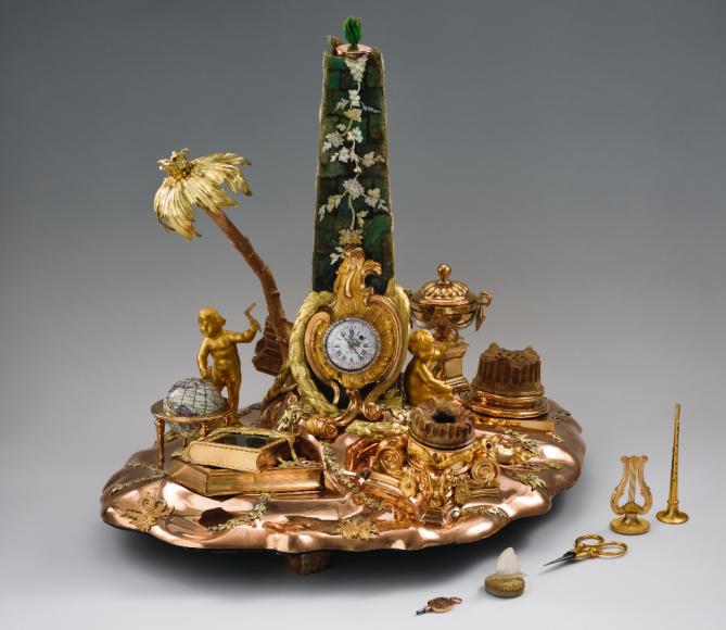 Письменный прибор с часами, принадлежавшийимператрице Екатерине II. Париж, 1780 (?)