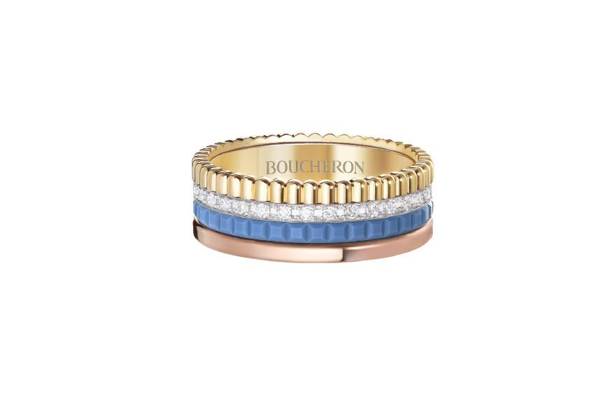 Кольцо Quatre Blue Edition, Boucheron
