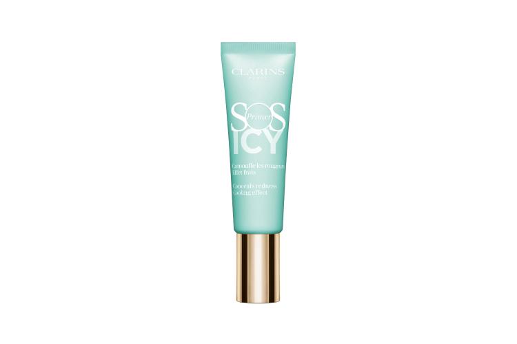Охлаждающая база под макияж, корректирующая покраснения SOS Primer Icy, лимитированный выпуск, Clarins