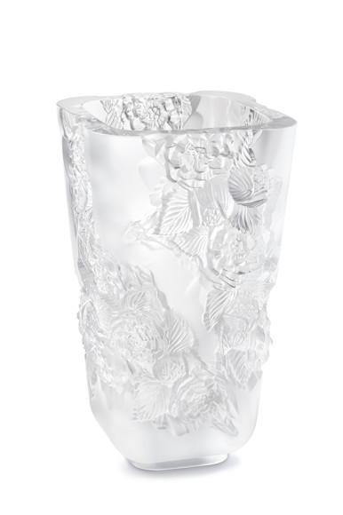 Ваза для цветов «Пионы», прозрачная, 35см, 541 000 руб., Lalique