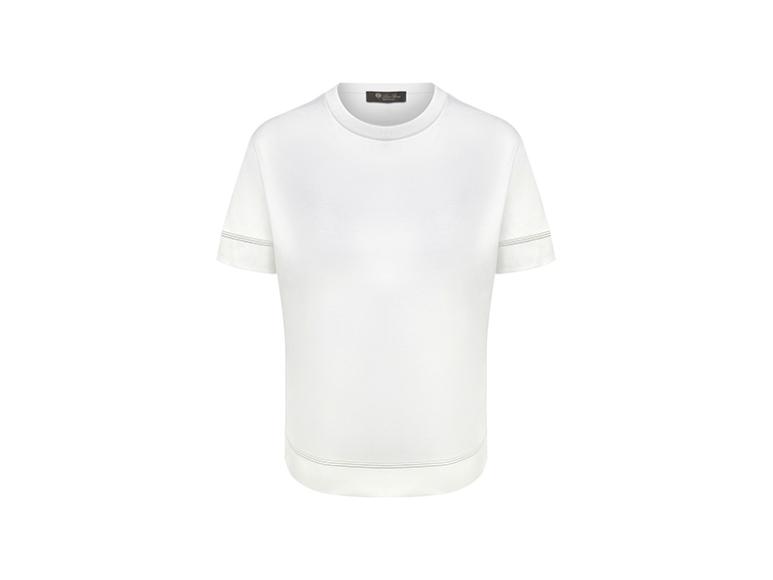 Женская футболка Loro Piana, 33750 руб. («Барвиха Luxury Village»)