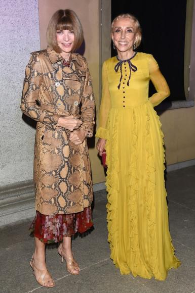 Анна Винтур (Vogue US) и Франка Соццани (Vogue Italia)