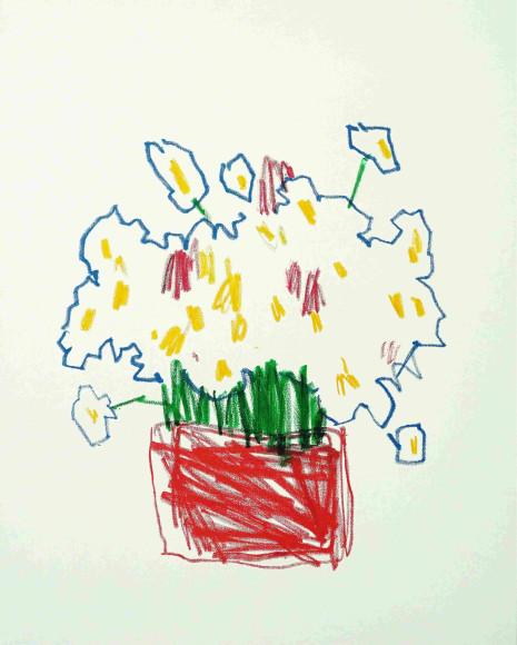 «Поле у дома», 2020, холст, масляная пастель, акрил, 100х80 см, 47000 руб.