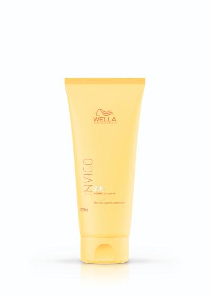 Экспресс-бальзам для применения после пребывания на солнце Invigo Sun, Wella Professionals с абрикосовым маслом восстанавливает и питает волосы