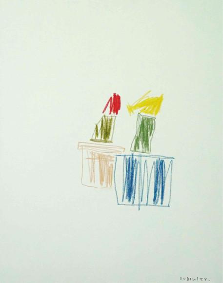 «Кактусы в цвету», 2020, холст, масляная пастель, 100х80 см, 47000 руб.