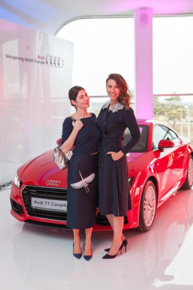 Дизайнер Евгения Линович и главный редактор Harper's Bazaar Дарья Веледеева