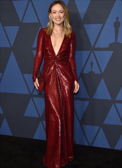 Оливия Уайлд в платье Ralph Lauren на церемонии Governors Awards
