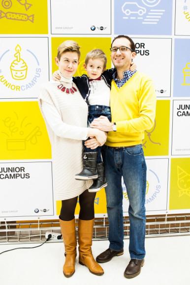 Екатерина Довженко с семьей