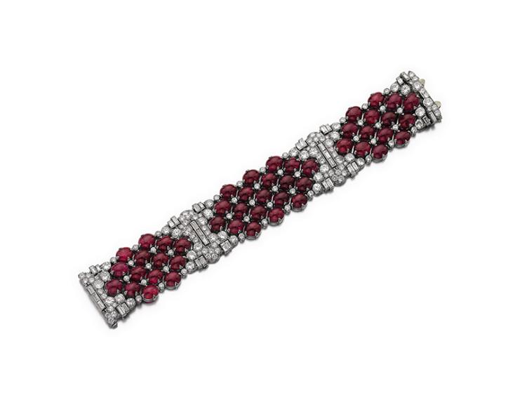 Браслет из рубинов и бриллиантов Bulgari