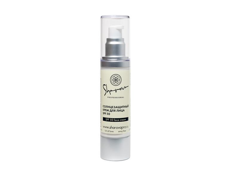 Солнцезащитный крем для лица SharpovaPro SPF 50. Выстраивает полную защиту кожи от негативного влияния УФА- и УФБ-лучей, а также содержит увлажняющие компоненты против сухости и шелушения. В основе— комбинация физических и химических фильтров.