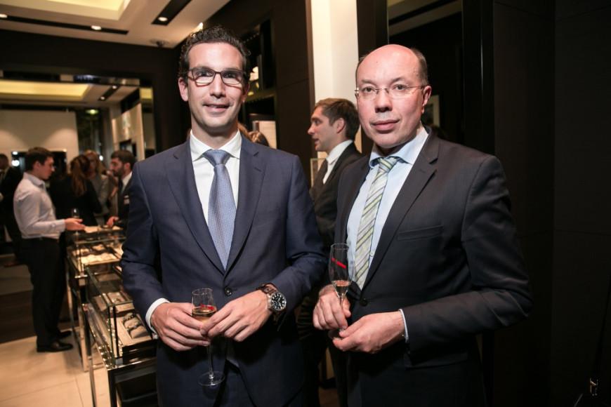 Томас Перини (IWC) и Андрей Родионов (Mercedes-Benz Rus)