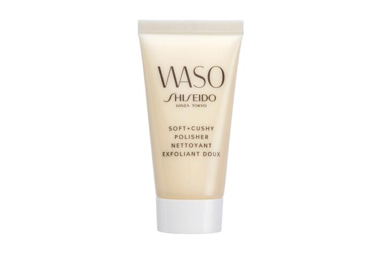 Мягкий эксфолиант для улучшения текстуры кожи Waso Soft+Cushy Polisher, Shiseido с фито-гранулами и соевым бобовым творогом