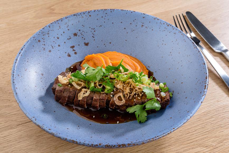 Брянская говядина терияки с бататом