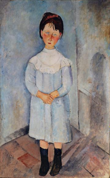Амедео Модильяни. «Девочка в голубом», 1918