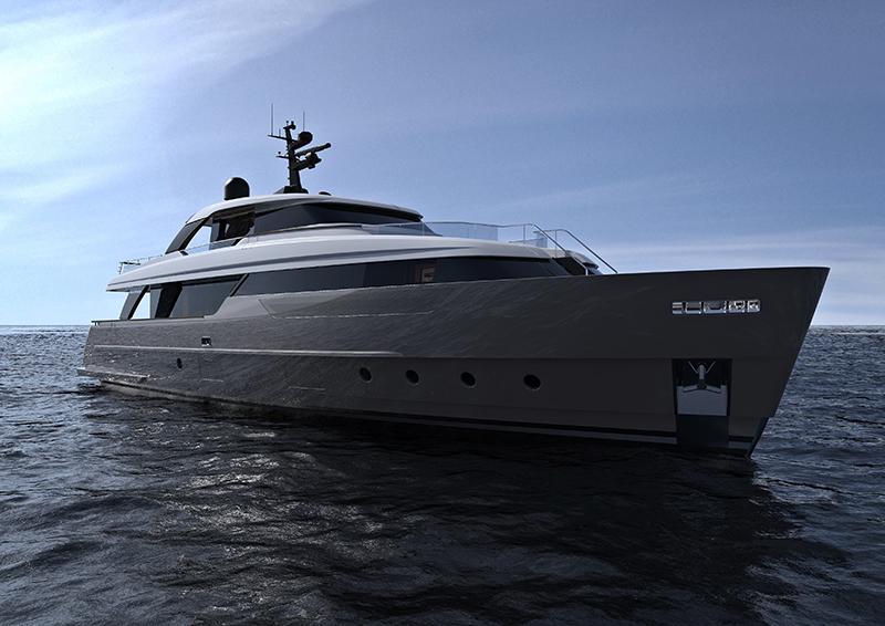 Модель яхты Sanlorenzo SD96