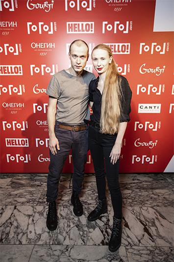 Юрий Борисов с супругой