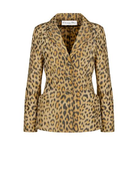 Леопардовый жакет Bar, Christian Dior